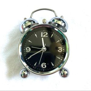 Other - NWOT Old Fashion Retro Loud Silver Alarm Clock